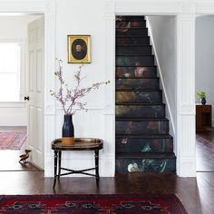 How gorgeous and creative is this staircase by Candis of @oldhomelove for their new book out Spring 2017!? Makes me excited that friends @sycamore_co and @metacoleman_ have teamed up to offer larger scale old world prints as downloads. I love the idea of them being posters but using them on furniture is even more exciting to me! I have my eye on Ölgemälde No. 6 that I think I'm going to use transform a wardrobe . #oldhomelovebook
