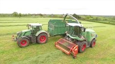 Staffordshire based Bostock's contracting with their Fendt Katana 65 forage harvester and Fendt 828 bringing in the 2015 grass silage
