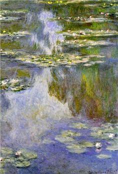 Claude Monet Water Lilies, 1907 Painting for sale, painting Edgar Degas, Monet Paintings, Impressionist Paintings, Landscape Paintings, Claude Monet, Artist Monet, Monet Water Lilies, Art Japonais, Pierre Auguste Renoir