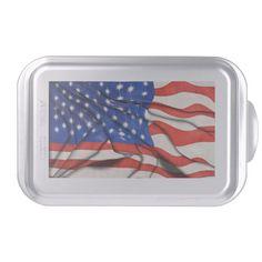 Wavy American Flag Cake Pan
