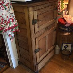 A personal favorite from my Etsy shop https://www.etsy.com/listing/466360632/antique-oak-ice-box-refrigerator-vintage