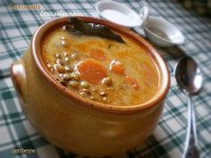 Gesztenye receptjei: Savanyú lencseleves Vegetable Soup Healthy, Healthy Soup Recipes, Cooking Recipes, Beef Tagine, Italian Soup, Winter Soups, Chowder Recipes, Hungarian Recipes, Beef Casserole