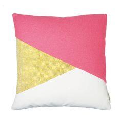 Dan Cushion Cover, Pink & Yellow
