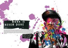 Editorial Spreads Mixed by Tom Hemming, via Behance.