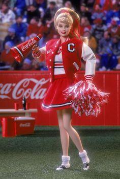 Coca-Cola® BarbiE (Cheerleader) Collector Edition. RD:10/1/2000.  PC:28376.