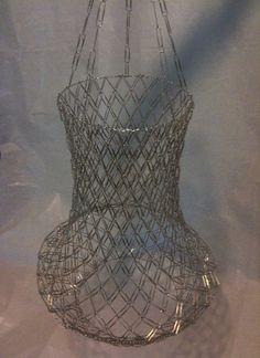 Cool Paper Clip chandelier!