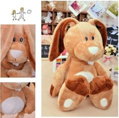 Plush NICI counters genuine Easter Bunny big long ears rabbit children toy 1pc