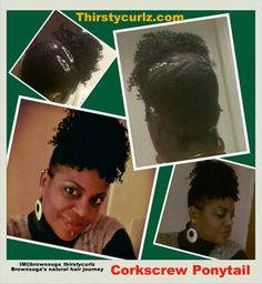 Corkscrew Ponytail