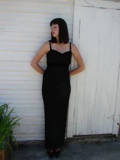 80s Classic Glam Gown by recycledandwearable on Etsy