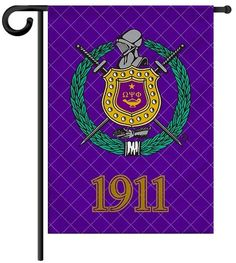 Fraternity Garden Yard Flag or House Flag Banner - Omega Psi Phi Fraternity