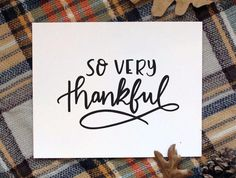 So Very Thankful Print