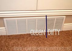 Home Sweet Homebodies: Cleaning Tip: Air Vents---doing this tomorrow because I swear it looks like my vents have never been cleaned.