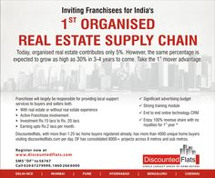 Discounted Flats (DF), is one of the largest real estate intermediary firm that deals with lands and  properties. As, real estate thriving in the market, DF has expanded, across several locations, giving new opportunities to our franchise owing to the increase in several tie ups with builders and developers.