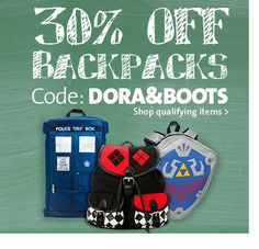 30% OFF BACKPACKS Dora Boots, Business Sales, Going Out Of Business, Boot Shop, Discover Yourself, Lunch Box, Coding, Entertaining, Backpacks