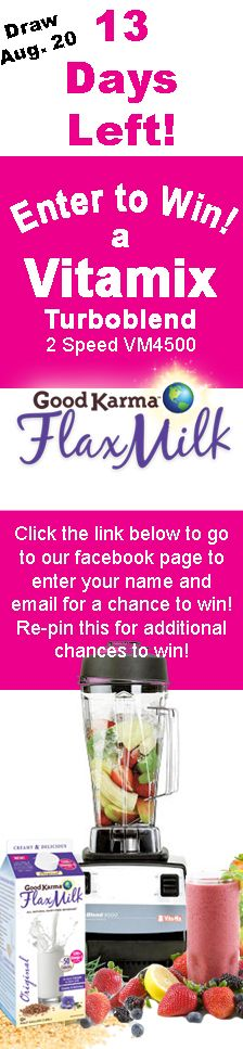Hurry! Only 13 days left!   Go to our Facebook page to enter- If you have re-pinned a contest or recipe pin- you get another entry! www.facebook.com/...