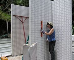 These panels can be easily erected by a husband and wife team Insulated Concrete Forms, Insulated Panels, Local Contractors, 3d Panels, Portland Cement, Steel Beams, Construction Cost, Building Systems, Old Houses