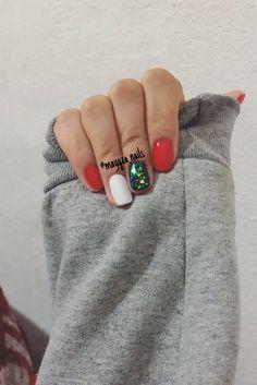 #rednails #efectoflake #nails