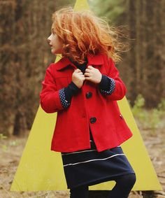 Look at this #zulilyfind! Red Wool-Blend Evette Jacket - Toddler & Girls #zulilyfinds