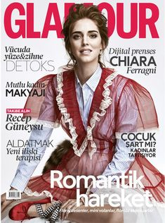 Chaira Ferragni by Ümit Savaci for Glamour Turkey April 2016 cover - Miu Miu Spring 2016