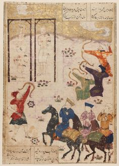 Firdawsi's Shahnama: Execution of Faramurz and Another Prisoner Persian Timurid Period 15th century Object Place: Iran