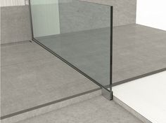 Aluminium edge profile for floors GLASS PROFILE GU Glass profile Collection by PROFILPAS