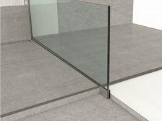 Aluminium edge profile for floors GLASS PROFILE GU Glass profile Collection by PROFILPAS