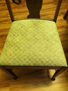 Newly upholstered dining room chairs 7/3/14