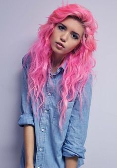 i find myself wanting to do this.. maybe not pink, but a crazy color change.