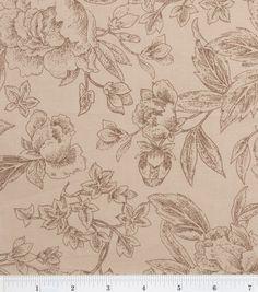 H-bag!  Legacy Studio Cotton Fabric- Rose Chintz Tonal Rose Tan & quilting fabric & kits at Joann.com