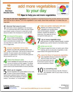 How to eat more Vegetables.  #charlottepediatricclinic