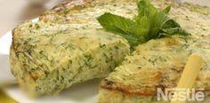 Pastel de calabacín a la menta #recetas #nestlecocina