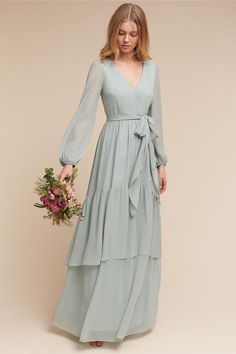 Fashion dresses - Exquisit Chiffon Vneck Long Sleeves Aline Bridesmaid Dresses With Belt – Fashion dresses Muslim Fashion, Modest Fashion, Hijab Fashion, Fashion Dresses, 70s Fashion, Fashion Tips, Modest Dresses, Trendy Dresses, Formal Dresses