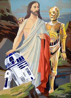 Photo- Op by David Irvine - Jesus, R2D2, and C3PO