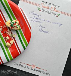 Free Printable Santa Letterhead Hip2Save