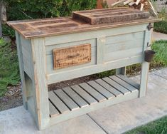 How To Make Rustic Furniture White Living Room Furniture Sunrooms Key: 2891131949 Wood Cooler, Pallet Cooler, Patio Cooler, Diy Cooler, Outdoor Cooler, Rustic Outdoor Furniture, Unique Furniture, Rustic Patio, Cheap Furniture