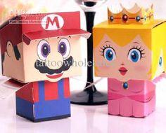 mode super marioamp ; charme princesse de mariage nouvelle douche favor candy boîtes cadeau de fête de mariage tenir