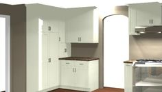... kitchen-cabinets-modern-red-007-A124d-corner-pantry.jpg | Kitchen