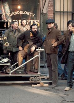 Francis Ford Coppola and Robert De Niro on the set of 'The Godfather: Part II', 1974.