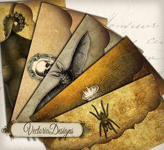 INSTANT DOWNLOAD Halloween Envelopes instant download printable digital collage sheet 171