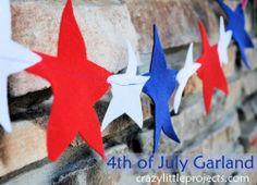 Cute DIY Felt Garland For 4th Of July | Shelterness