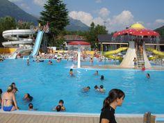 Genieten in het zwembad op de International Sport Camping aan het Luganomeer