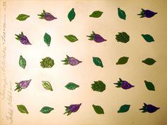 LOT 30 TODD OLDHAM  LEAF Realistic Vintg Metal Button Artichoke Turnip Leaf Sets