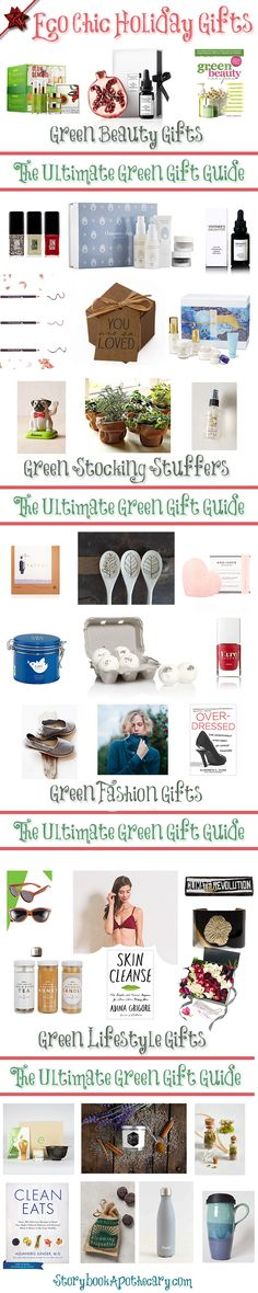 On the blog, I'm sharing the Ultimate Green Gift Guide which includes a variety of eco-friendly, sustainably sourced, and ethically made items from stylish fashion gifts to green beauty and more!