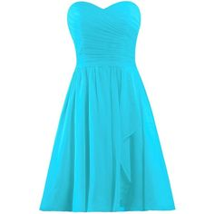ANTS Women's Sweetheart Short Bridesmaid Dresses Chiffon Wedding Party... ($30) ❤ liked on Polyvore featuring dresses, chiffon cocktail dress, short blue dress, short bridesmaid dresses, sweetheart cocktail dresses and short blue cocktail dresses