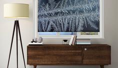 Ice #rollerblind #windowtreatments #windowdecor #DIY #frost #winter #interior #design #home #decor #print