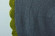 Crochet Rug Forest Mist Detail