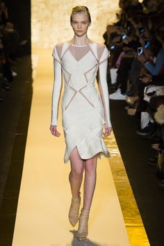 Catwalk photos and all the looks from Herve Leger by Max Azria Autumn/Winter 2015-16 Ready-To-Wear New York Fashion Week