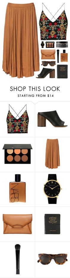 """bird watching"" by martosaur ❤ liked on Polyvore featuring Topshop, Givenchy, Anastasia, Zara, NARS Cosmetics, Larsson & Jennings, CÉLINE and Earth's Nectar"