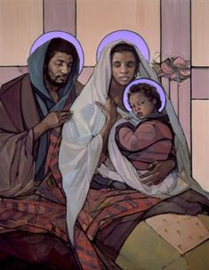 Holy Family Christmas Cards - Set of 15 Religious Images, Religious Art, Religious Icons, Black Nativity, Jesus E Maria, Mama Mary, Jesus Art, Mary And Jesus, Biblical Art