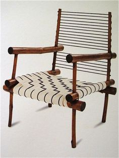 Pierre Jeanneret (Swiss,1896-1967) | Rustic armchair designed for his home in Chandigarh, India, c.1950s